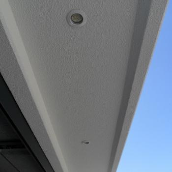 LED-Spot im Vordach
